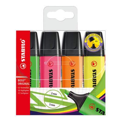 Stabilo Boss highlighter 4 pack