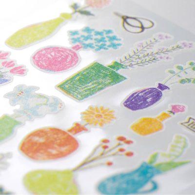 midori-2376-Marche-Flower-Vase-stickers-closeup