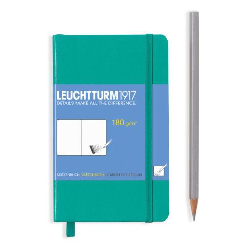 leuchtturm-a6-sketchbook-180g-emerald-green