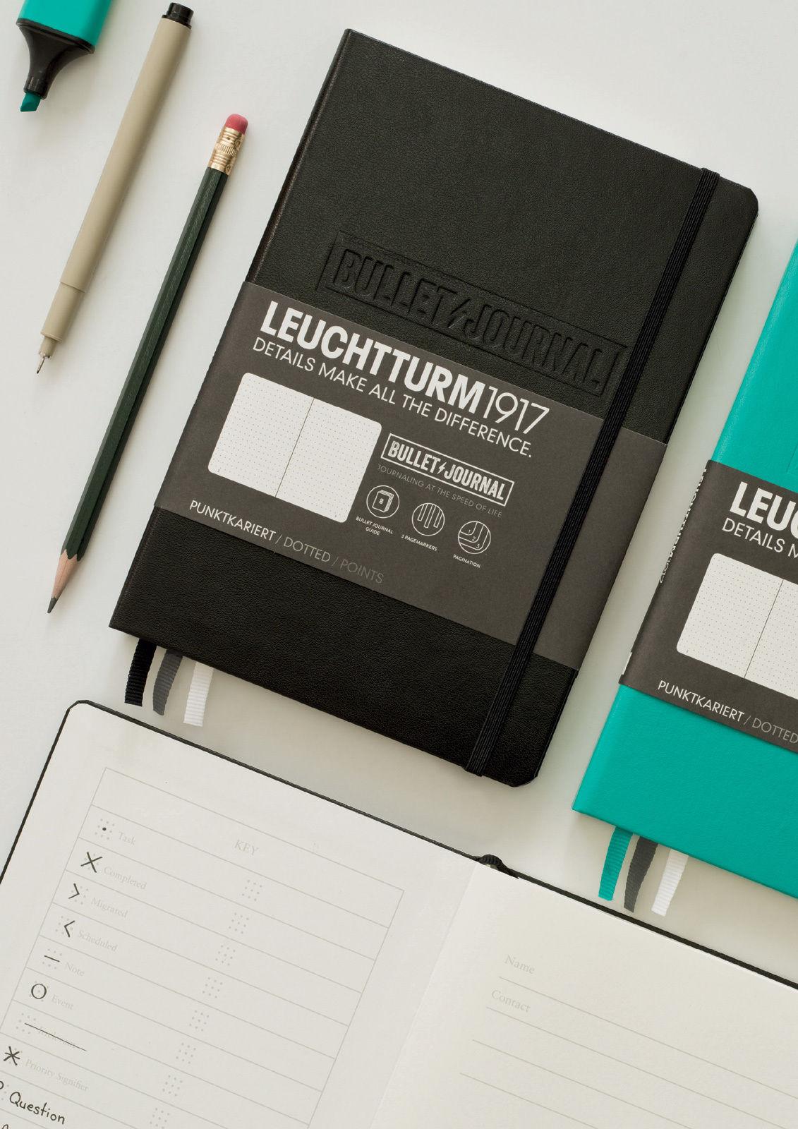 Leuchtturm1917-A5-Bullet-Journal-Hardback-Dotted-Notebook-Black-Emerald-Green-152417817170-2
