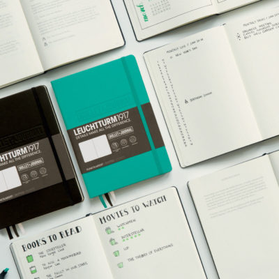 Leuchtturm1917-A5-Bullet-Journal-Hardback-Dotted-Notebook-Black-Emerald-Green-152417817170