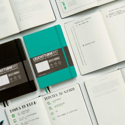 Leuchtturm1917-A5-Bullet-Journal-Hardback-Dotted-Notebook-Black-Emerald-Green-152417817170