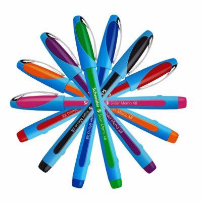 Schneider-Slider-Memo-XB-Ballpoint-Pen-Comfy-Rubber-Grip-Waterproof-All-Colours-152587433080-2