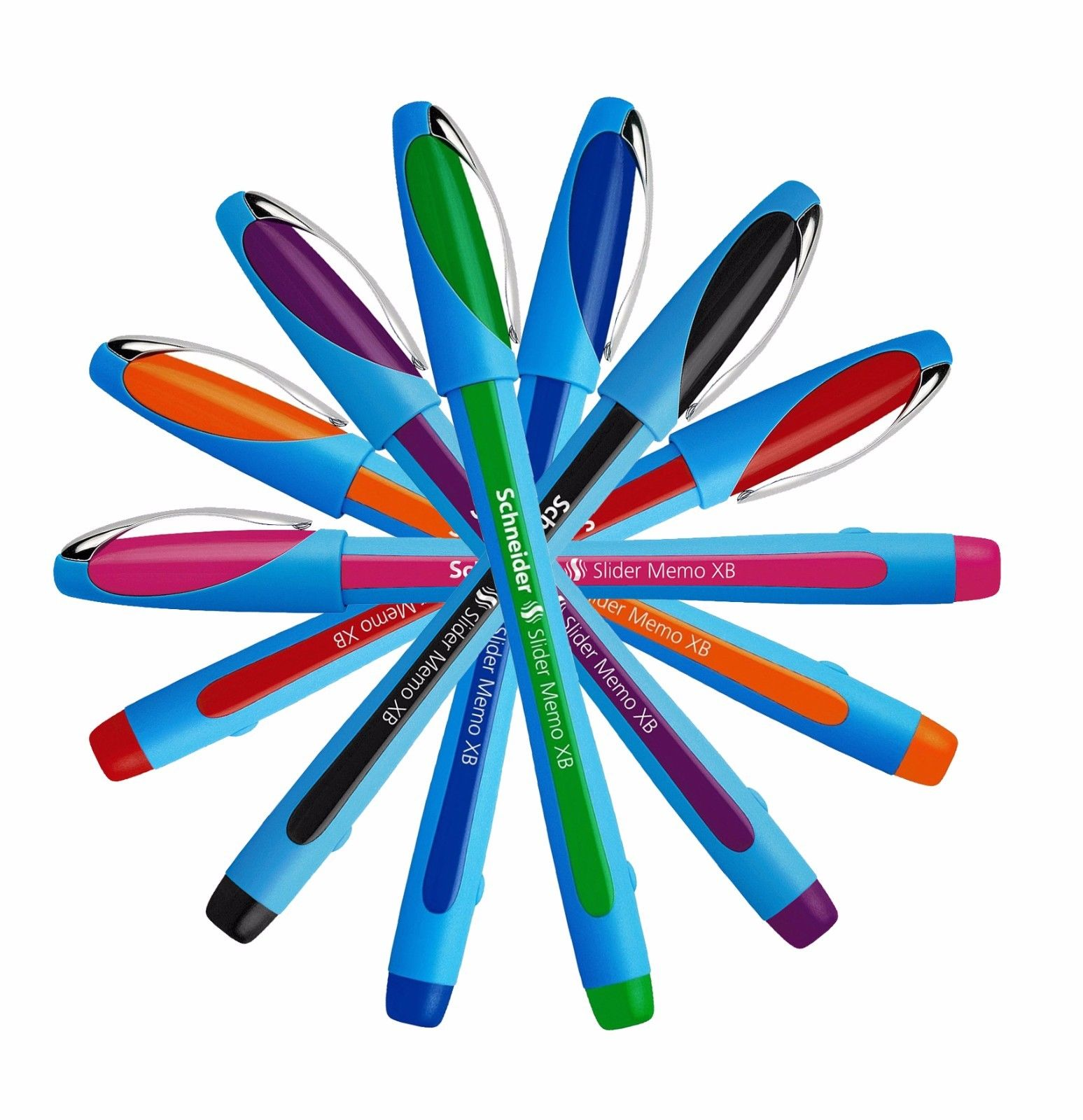 Schneider-Slider-Memo-XB-Ballpoint-Pen-Comfy-Rubber-Grip-Waterproof-All-Colours-152587433080-2