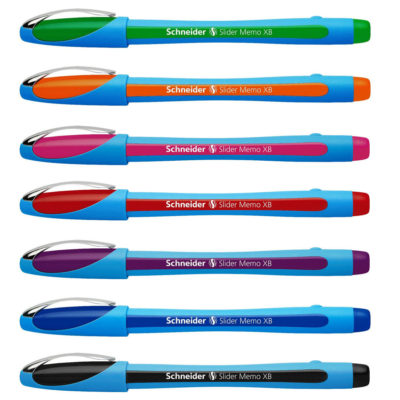Schneider-Slider-Memo-XB-Ballpoint-Pen-Comfy-Rubber-Grip-Waterproof-All-Colours-152587433080-3