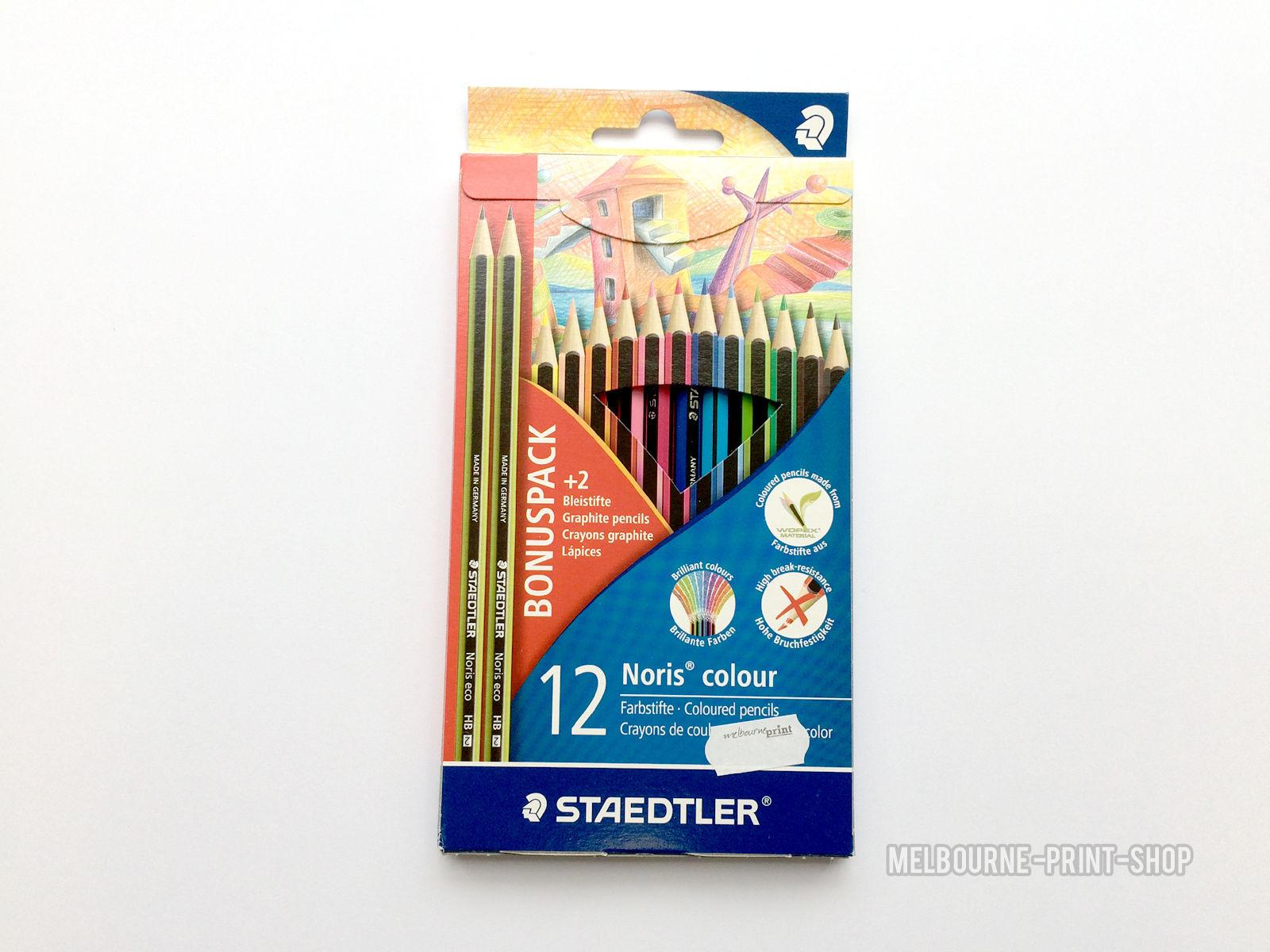 Staedtler-Noris-Colour-Pencils-12-Pack-Bright-Colouring-Set-2-Eco-HB-Pencils-152336930513
