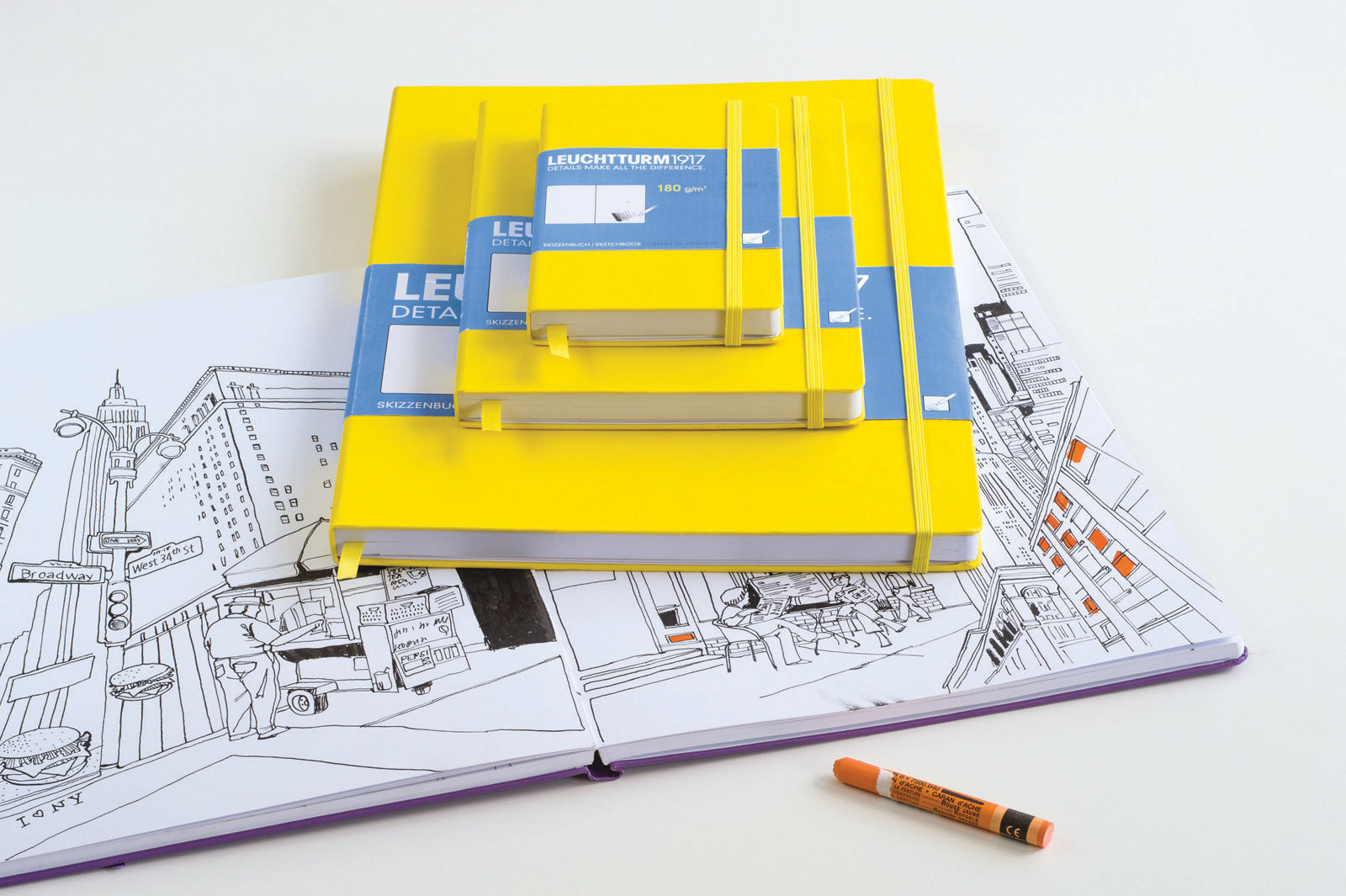 Leuchtturm-A5-Hardback-Sketch-Book-Quality-180gsm-Artists-Drawing-Sketchbook-152114721245-2