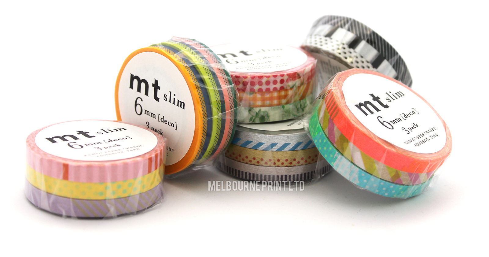 MT-Slim-Washi-Tape-8211-Skinny-3-Pack-6mm-x-10m-8211-Japanese-Deco-Craft-Trim