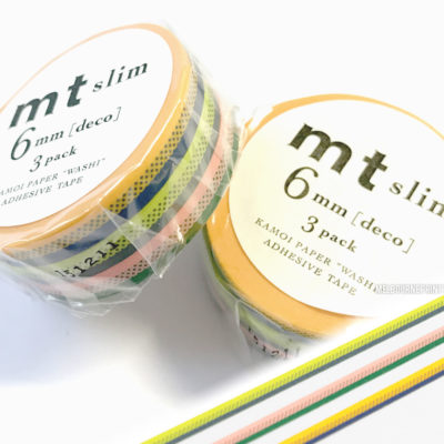 MT-Slim-Washi-Tape-8211-Skinny-3-Pack-6mm-x-10m-8211-Japanese-Deco-Craft-Trim