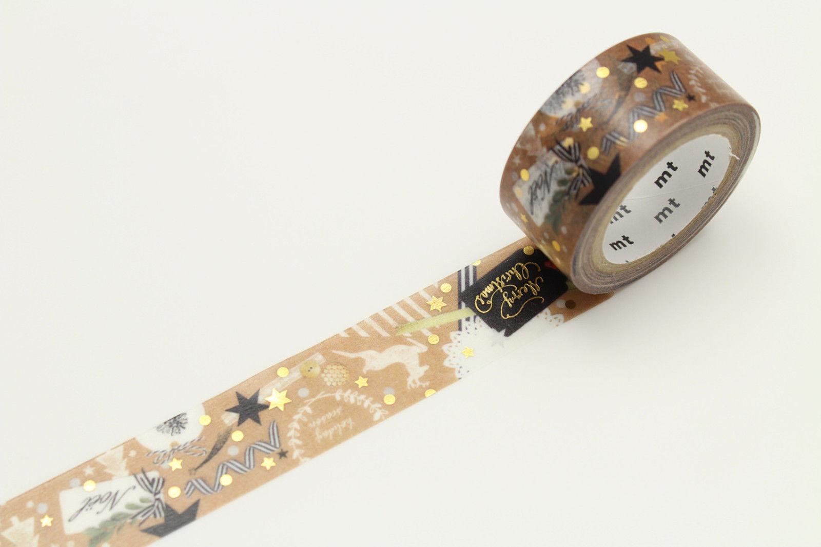 Variation-of-Original-MT-Japanese-Christmas-Washi-Masking-Tape-Roll-Deco-Sticky-Gift-Tape-152336733447-3fa2
