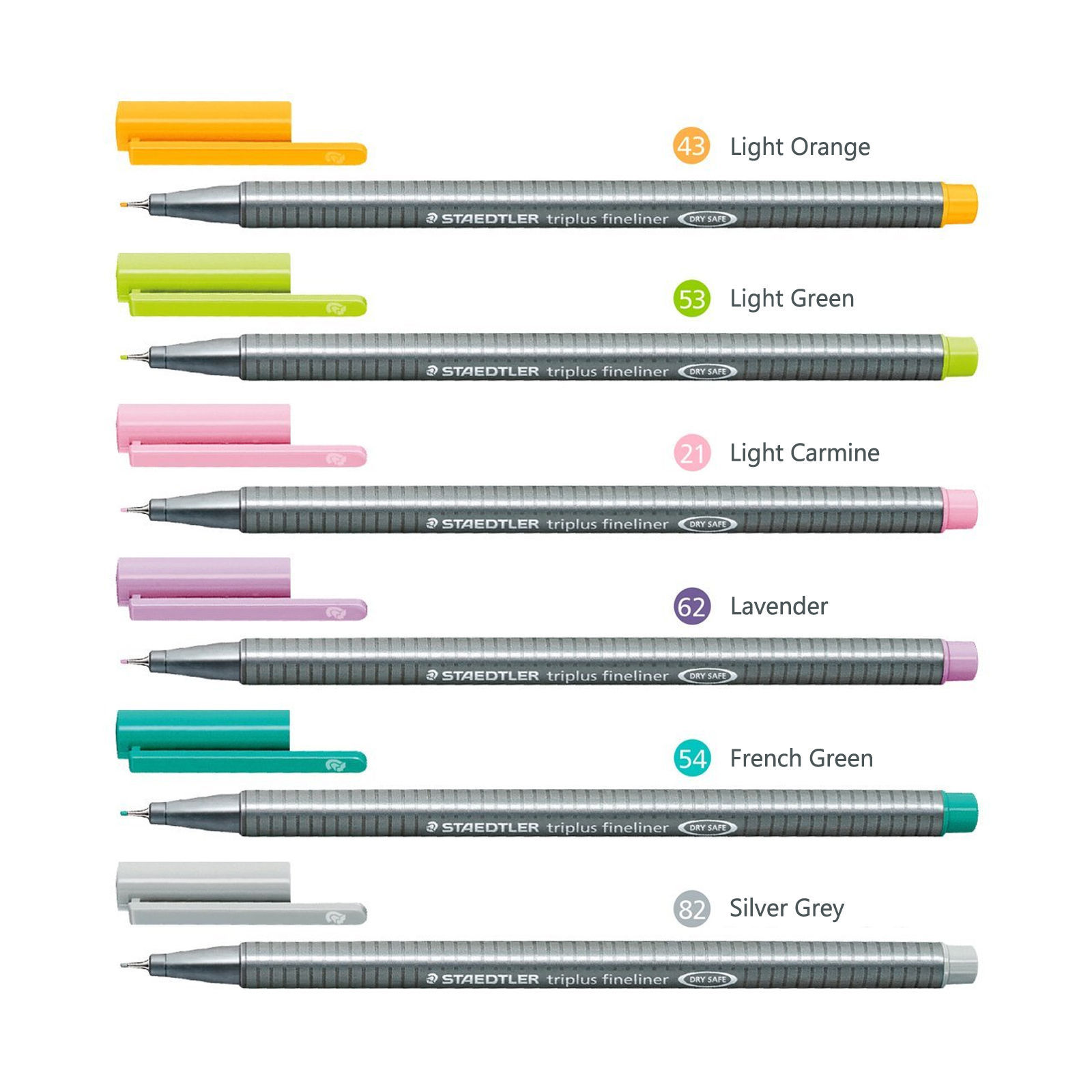 Staedtler-Triplus-Fineline-Pens-03mm-PASTEL-COLOURS-6-Pack-Desktop-Box-NEW-152272651109-2