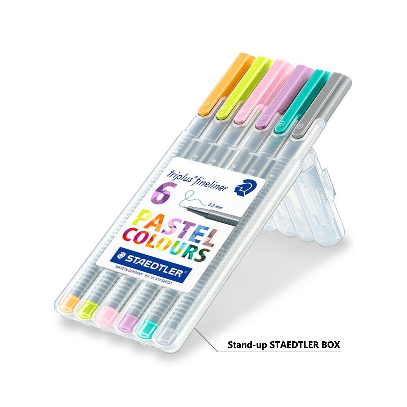 Staedtler-Triplus-Fineline-Pens-03mm-PASTEL-COLOURS-6-Pack-Desktop-Box-NEW-152272651109-3